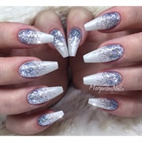 Winter Glitter Nails