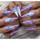 Unicorn Stiletto Nails 💜🦄