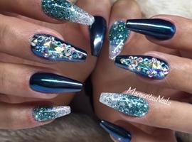 Chrome And Glitter Ombré