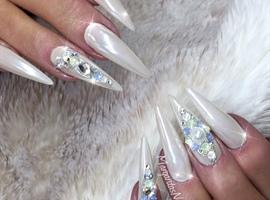 White Chrome Stilettos