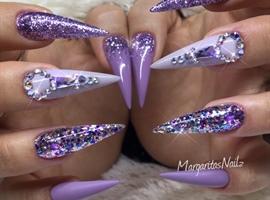 Purple Bling Stilettos