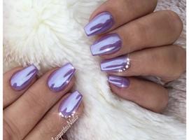 Purple Crome Nails