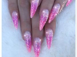 nail art: Pink Glitter Nails