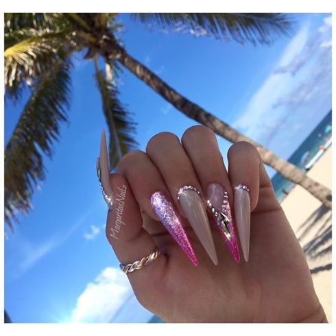 Pink Ombré Stilettos