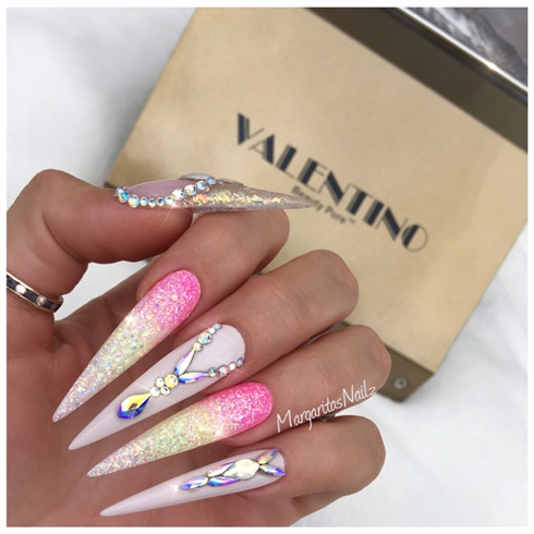Glitter Ombré Stilettos