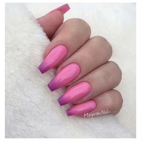 Pink Purple Ombré Nails