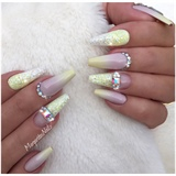 Pastel Yellow Ombré Nails