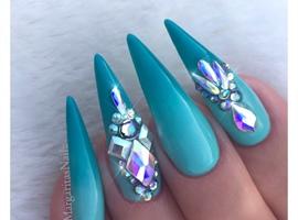Aqua Ombré Bling Stilettos