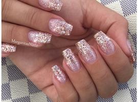 nail art: Rose Gold Glitter Ombré Nails