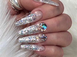 Glitter Ombré Bling Coffin Nails
