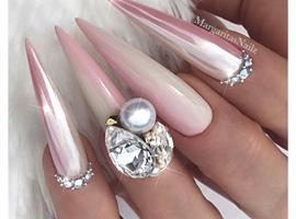Pink Vanilla Ombré Bling Stilettos