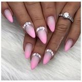 Baby Pink Ombré Matte Nails