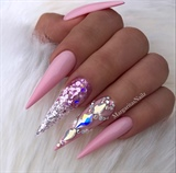 Baby Pink Glitter Ombré Bling Stilettos
