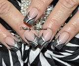 Black/silver Bling