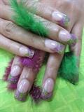 purple/green
