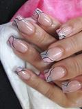 pink silver swirl