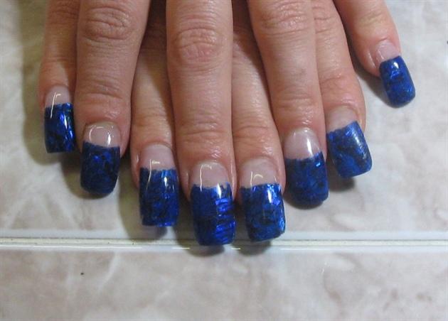 blue an black seashell wrap