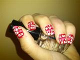 valentine XOXO nail art