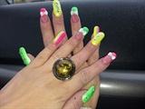 hot neon nails