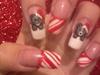 christmas tatty bear nails