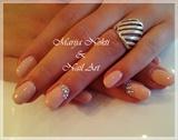 Elegant peach nails