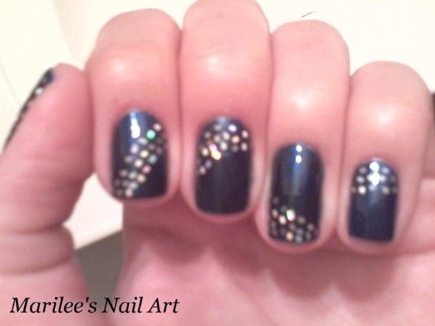Dark Blue and Silver