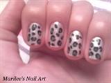 Silver Leopard Print