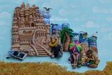 Sand Castels, 3D Acrylic Sculpture