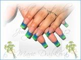Blue & green..