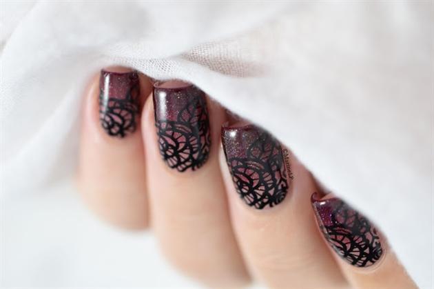 Gradient & lace