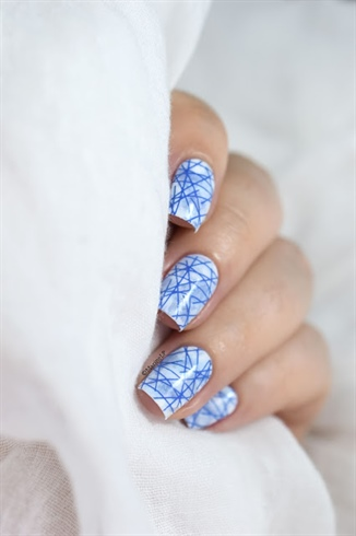 Blue stamping marble