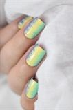Summer fringed nail art