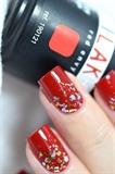 Festive nail art with gel polish!