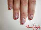 Arabesque Red French Manicure