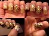 acrylic gold- nail art -3d