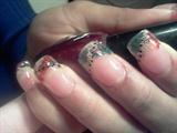 christmas acrylics nail beads
