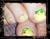 strawberry on yellow