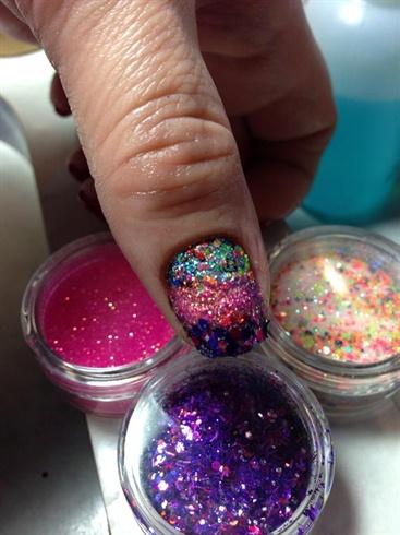 bathing in glitter