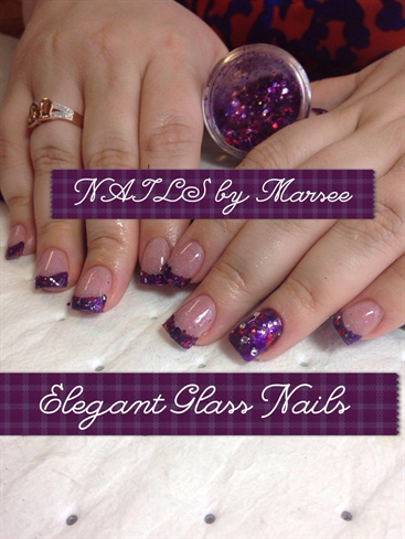 Glitter Tips With Elegant Glass Nails