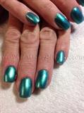 Acrylic with nail polish