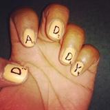 Scrabble Nails