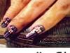 purple burrberry nails