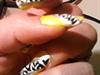 yellow zebra nails