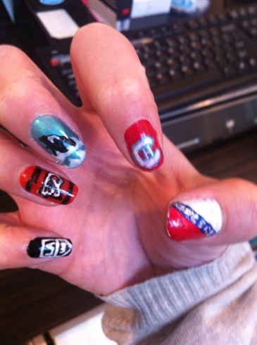 NHL nail art