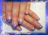 purple-blue glitter nails