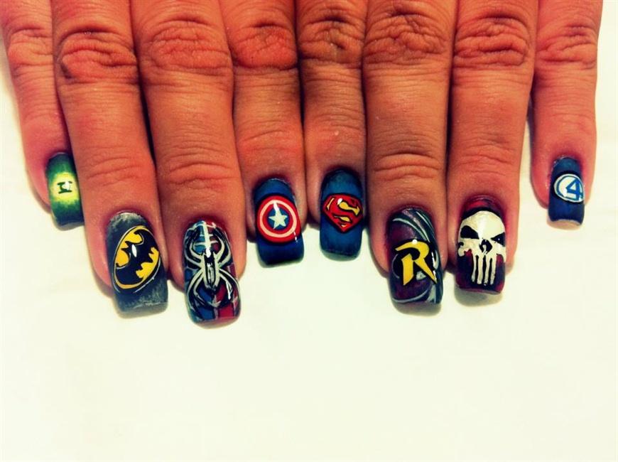 Avengers nail - Nail Art Gallery