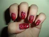 Gradient leopard nail art