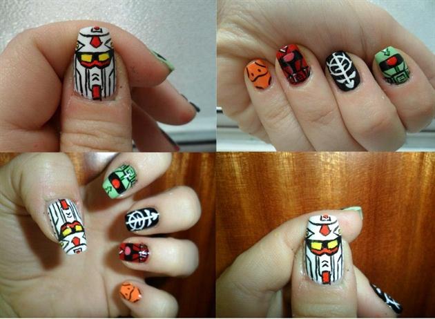 Gundam nails