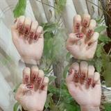 red leopard nail art tutorail ❤❤
