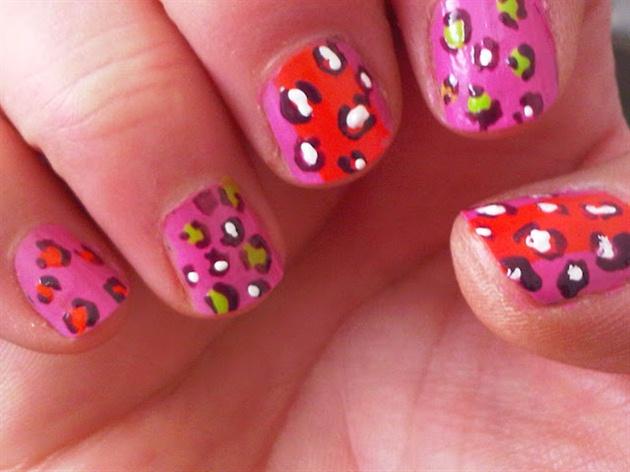 Neon Stripe Leopard